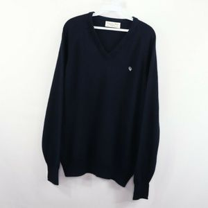 Vintage Christian Dior Spell Out V-Neck Sweater XL